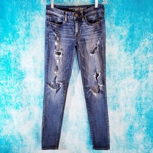 American Eagle Distressed Super Stretch Jeans